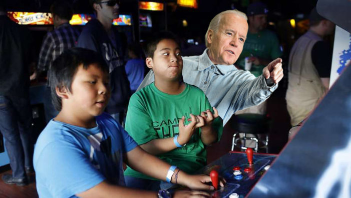 Biden Shouts Correct Techniques During Tense Game At Local Arcade