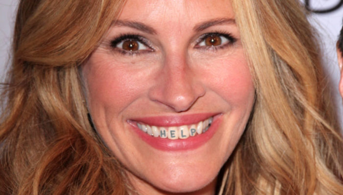 Julia Roberts Teeth Display Harrowing Message In Desperate Rescue Attempt