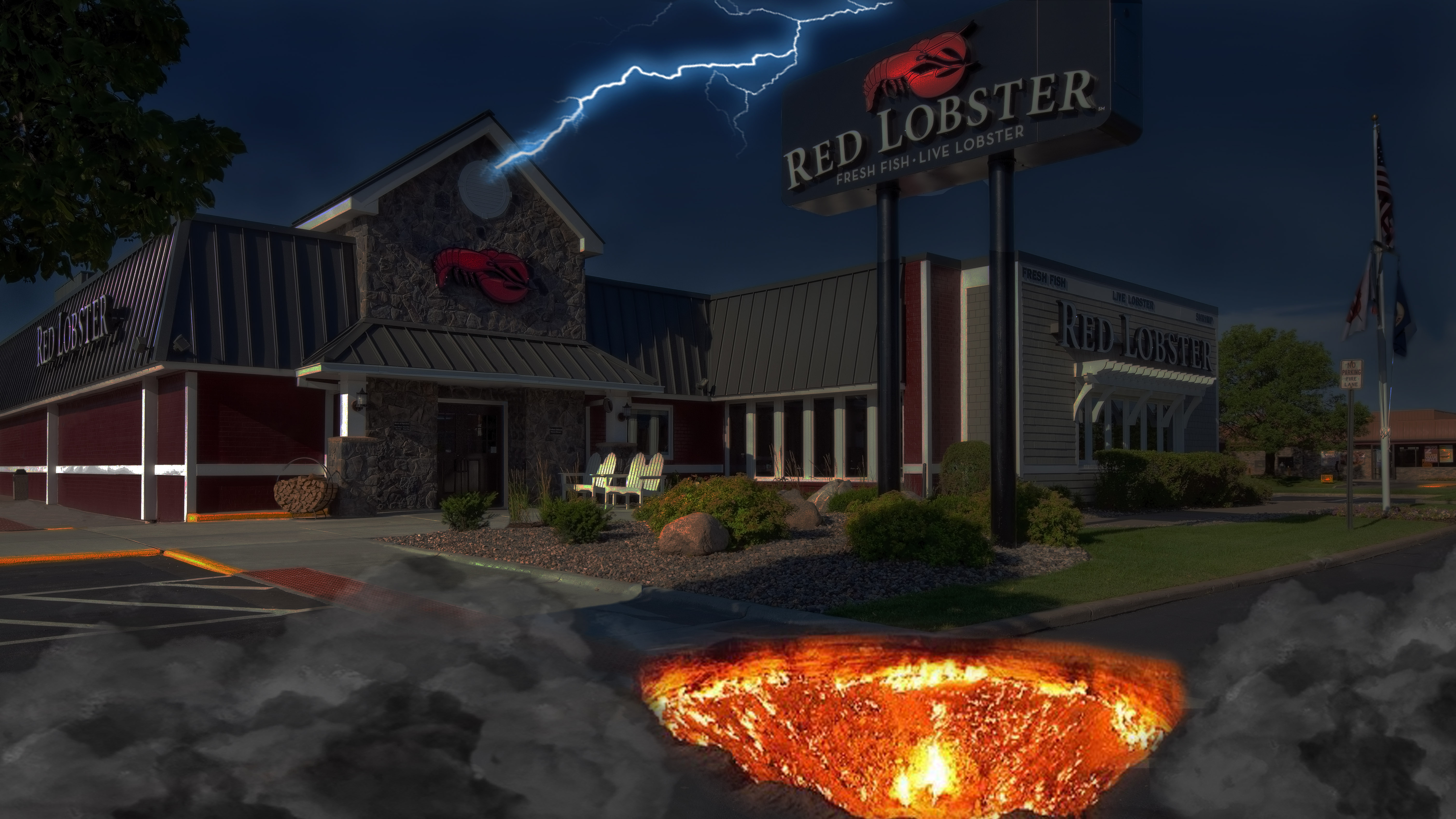 Red Lobster Built On Old Olive Garden Grounds Opens Portal To Hell
