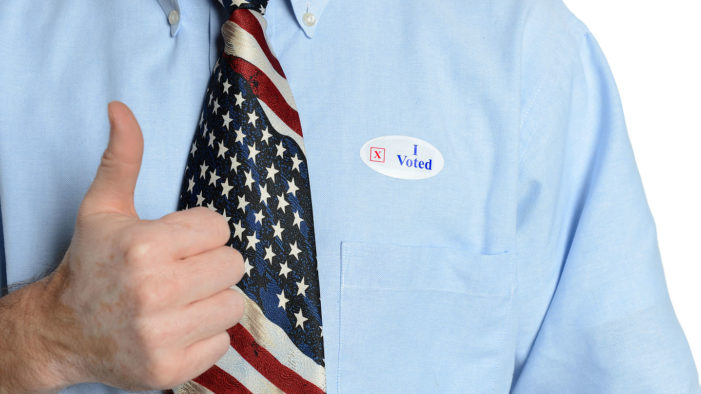 U.S. Masturbates To Picture Of Self Wearing I Voted Sticker