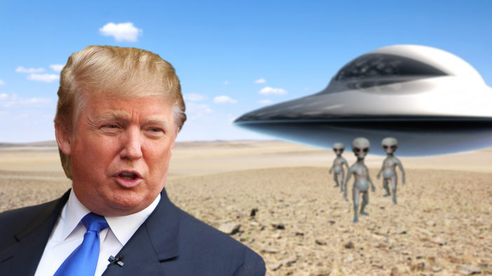 Alien Arrival Downplayed By Trump